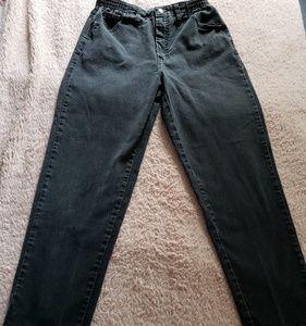 Lee black mom jeans 10short